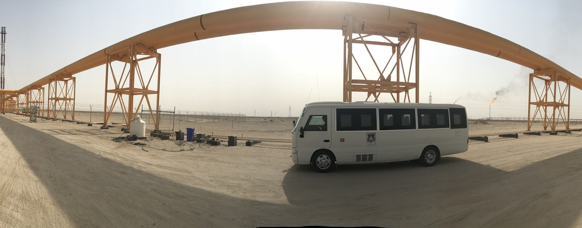 G4S bus driving in Iraq