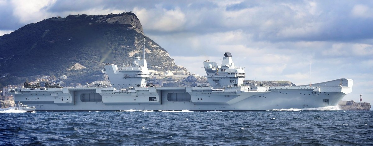 Queen Elizabeth Class aircraft carrier secured by G4S in open water