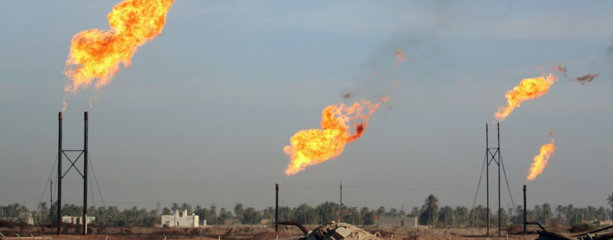 Carousel Burning excess natural gas in Southern Iraq