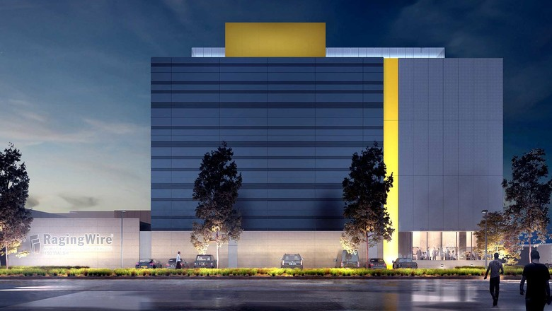 Exterior building at RagingWire's data centre