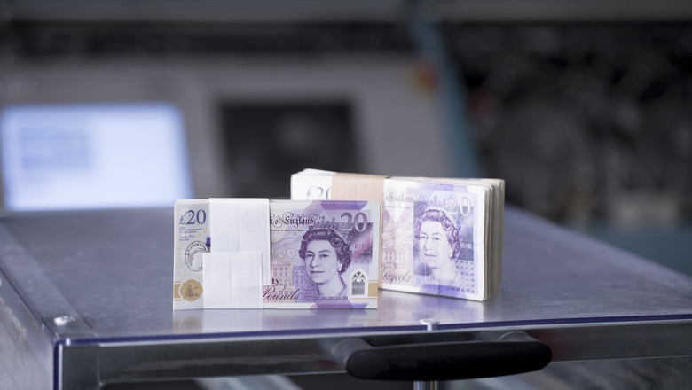 The new 20 pound note at one of G4S's cash centres