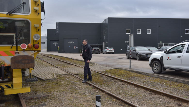 Security officer at a secure factory in Lithuania