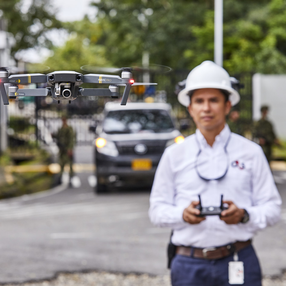 Drone operator in Colombia