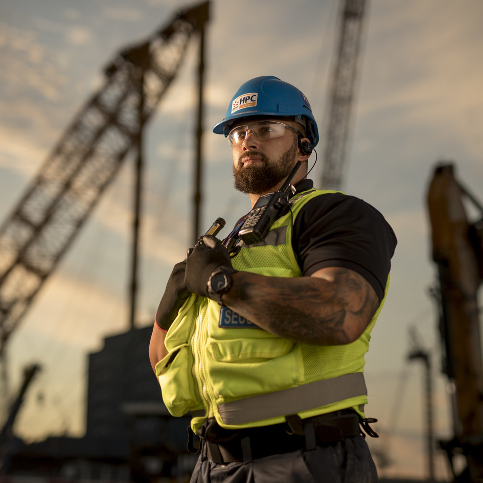Security officer at Hinkley Point site