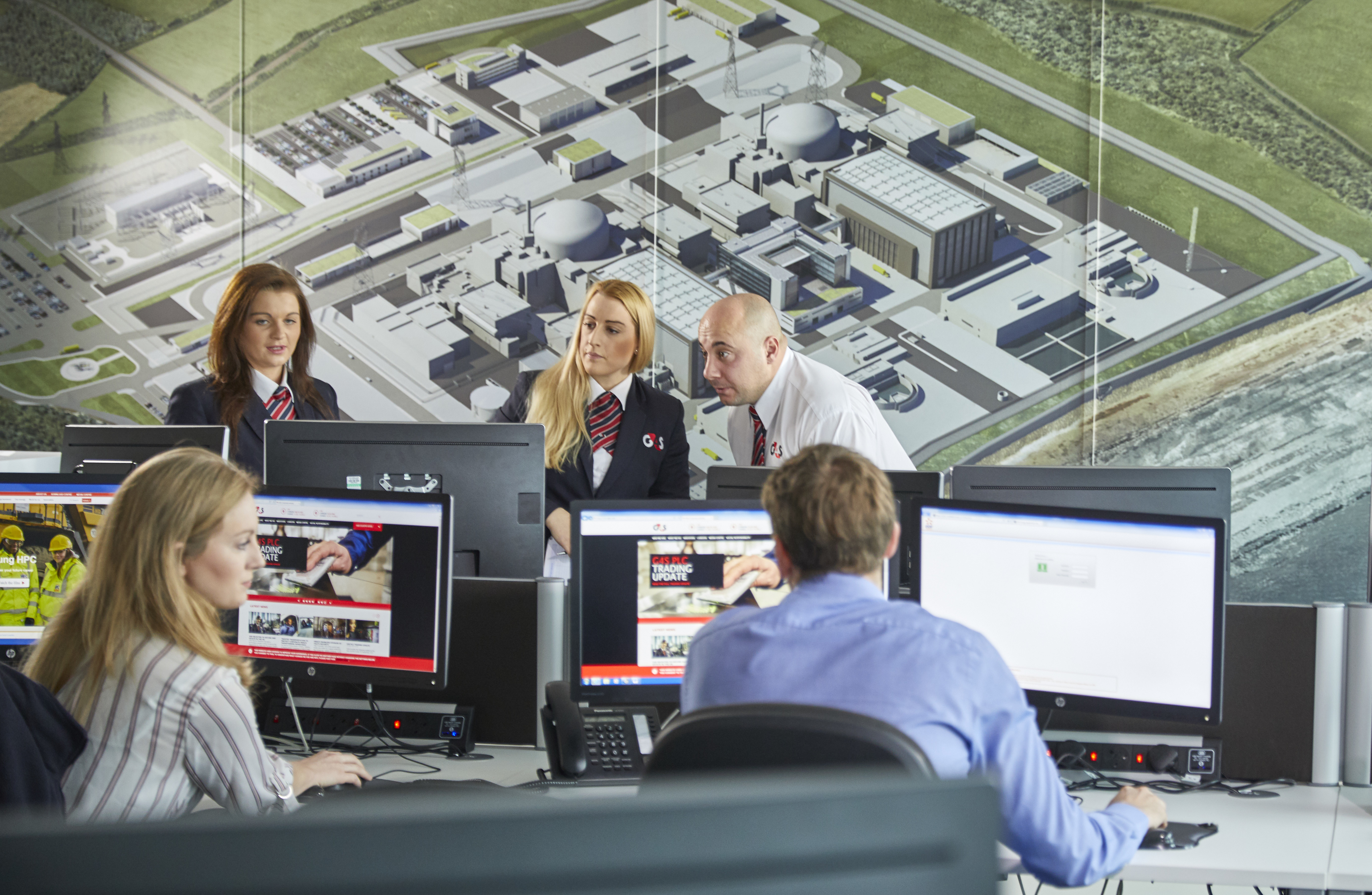Security Control Room at Hinkley Point C