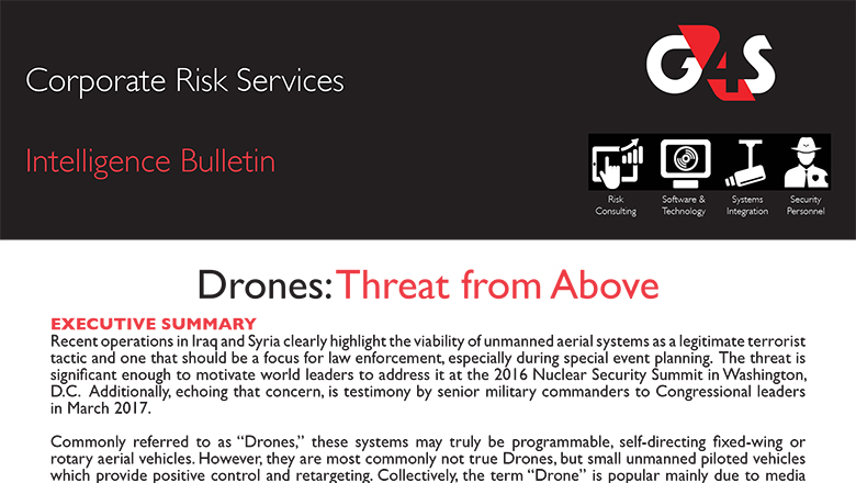 Drones: Threat from Above
