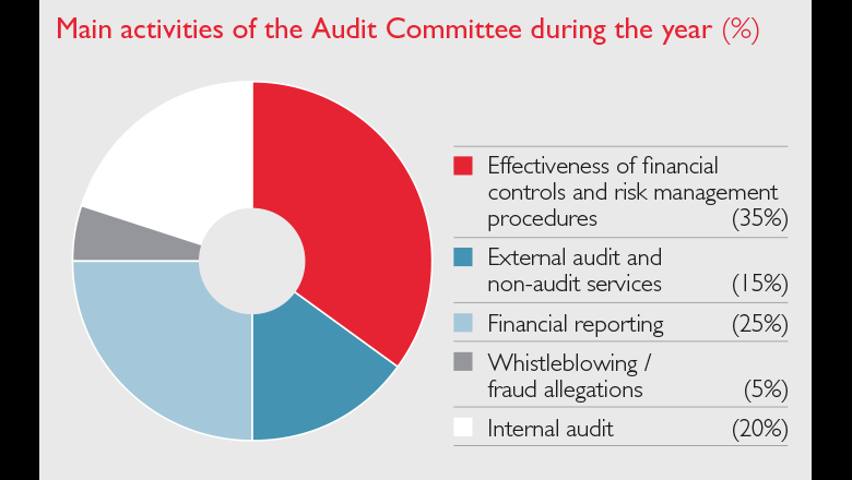 Main activities of Audit Committee 2016