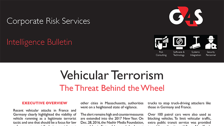 Vehicular Terrorism The Threat Behind the Wheel