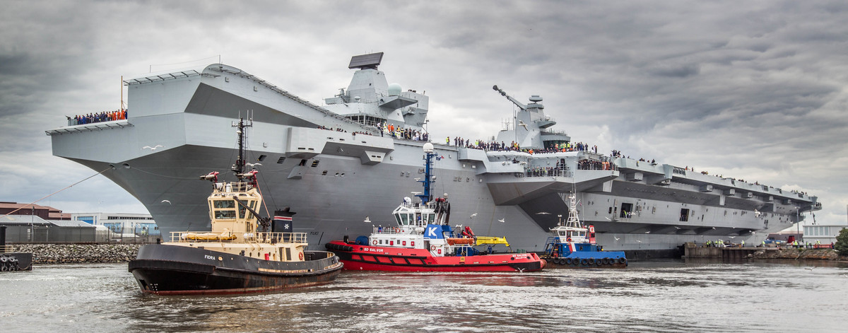 Queen Elizabeth Class aircraft carrier secured by G4S in port