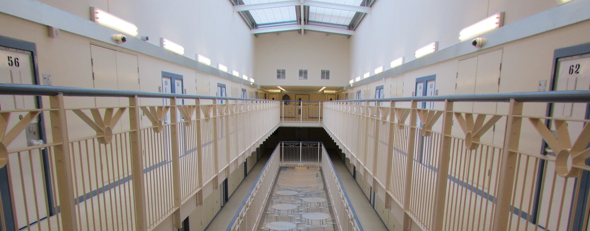 Inside a wing at HMP & YOI Parc