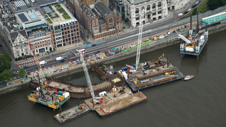 Thames tideway project, London, UK