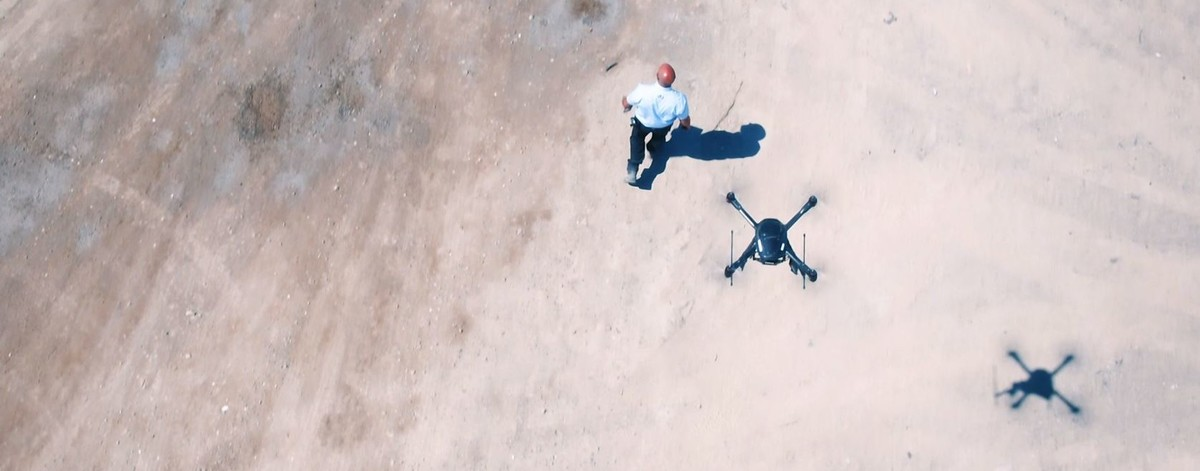 Drone and security guard