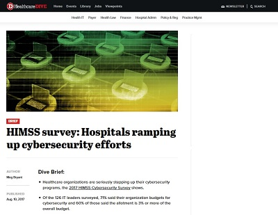 Hospitals Ramping up Cybersecurity Efforts