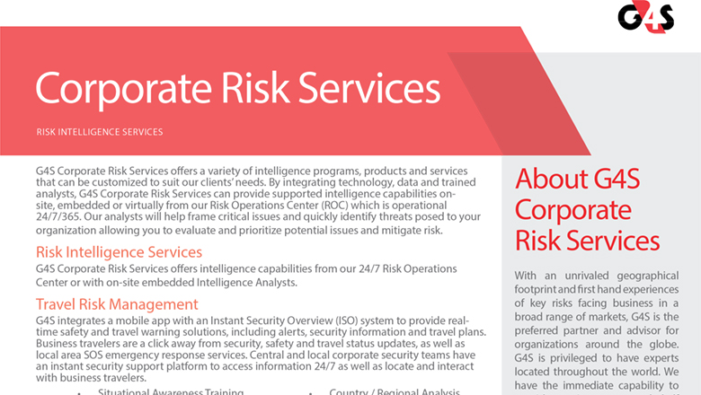 Risk Intelligence Services