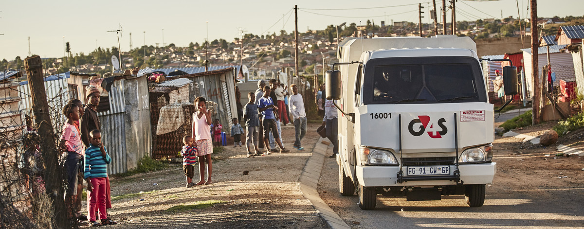 Cash vehicle in Soweto