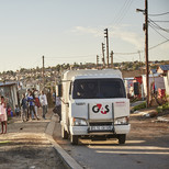 CIT vehicle in Soweto, South Africa